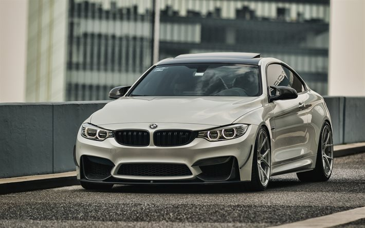 Download Wallpapers Bmw M4 4k Tuning F82 2019 Cars Parking White M4 Supercars 2019 Bmw M4 German Cars White F82 Bmw For Desktop Free Pictures For Desktop Free