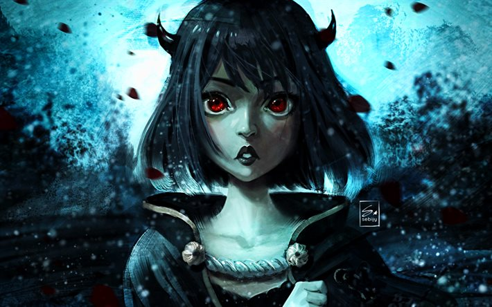 Download Wallpapers Secre Swallowtail Manga Black Clover Darkness Girl With Red Eyes Black Clover Characters For Desktop Free Pictures For Desktop Free