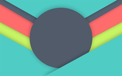 lines, android, gray blue red, circle, google, geometric shapes, material design, creative, geometry, colorful background
