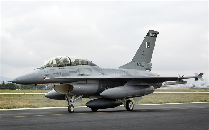 Download wallpapers General Dynamics F-16 Fighting Falcon, f