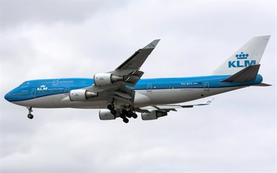 Boeing 747, passenger plane, air travel, passenger airlines, KLM, PH-BFY, Boeing