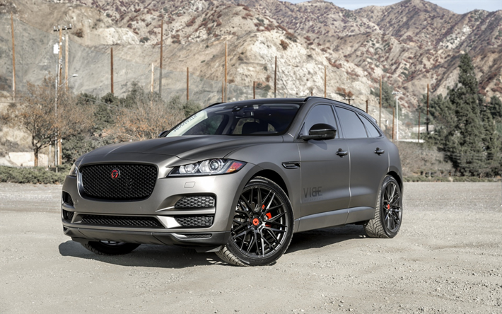 download wallpapers jaguar f pace 2019 luxury suv gray. Black Bedroom Furniture Sets. Home Design Ideas