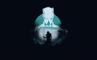 Game Of Thrones logo, 4k, minimal, Game Of Thrones, creative, Game Of Thrones Season 8