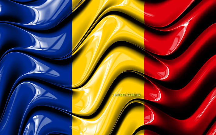 Download Wallpapers Romanian Flag 4k Europe National