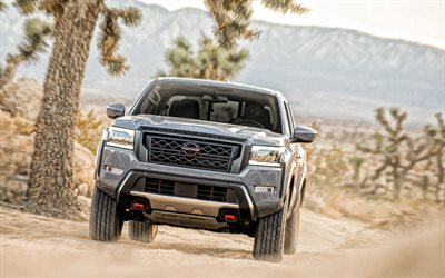 2022, Nissan Frontier, front view, exterior, new gray Frontier, suv, japanese cars, Nissan