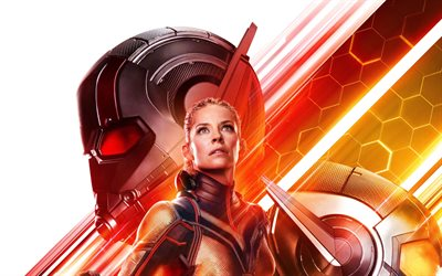 Ant-Man, The Wasp, 4k, 2018 movie, superheroes, Hope van Dyne, Ant-Man and the Wasp, Evangeline Lilly