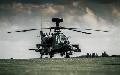Boeing AH-64D Apache, Military helicopter, attack helicopter, US Air Force, McDonnell Douglas AH-64