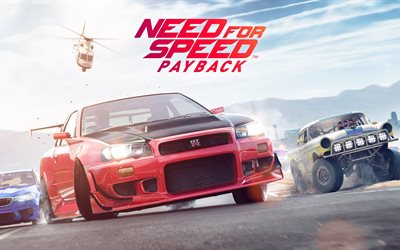 need for speed payback, 5k, 2017-spiele, autosimulator, nfs