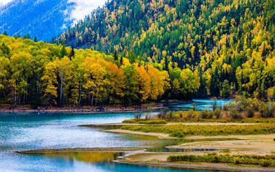 Asia, autumn, Kanas Lake, forest, Xinjiang, China