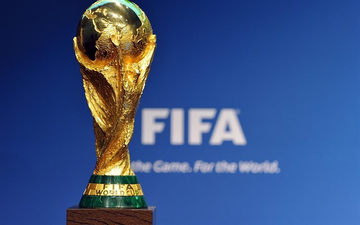 Gold Cup Football World Championship FIFA Trophy