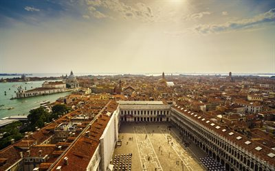 Venice, Summer, city panorama, old town, Italy