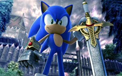 Sonic, sword, Sonic and the Black Knight, SEGA, superhero