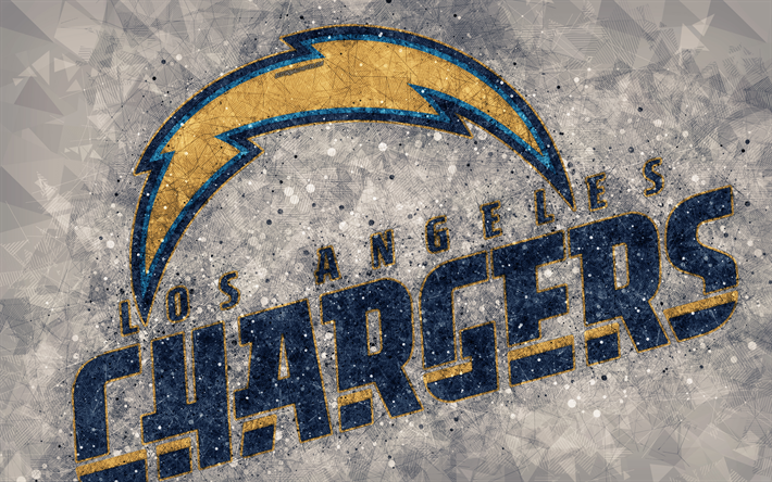 Download Wallpapers Los Angeles Chargers 4k Logo