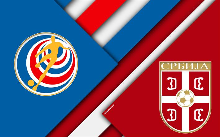 Download Wallpapers Costa Rica Vs Serbia Football Match 4k