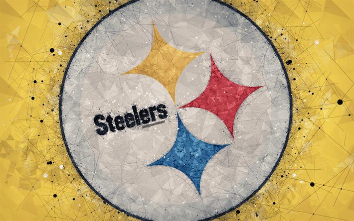 Download Wallpapers Pittsburgh Steelers 4k Logo Geometric Art