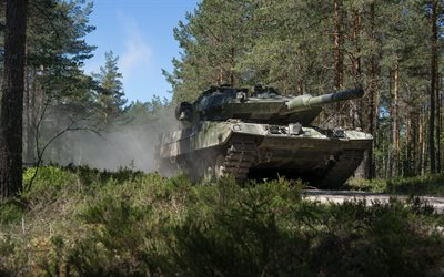 Leopard 2, German main battle tank, Leopard 2A5, Bundeswehr, modern tanks, armored vehicles, Germany