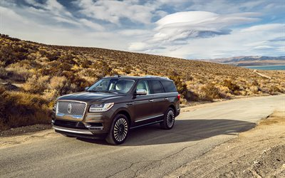 Lincoln Navigator, 4k, offroad, 2019 cars, luxury cars, SUVs, 2019 Lincoln Navigator, american cars, Lincoln