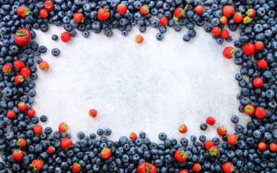 berries frame, blueberry frame, strawberry, creative frame, berries