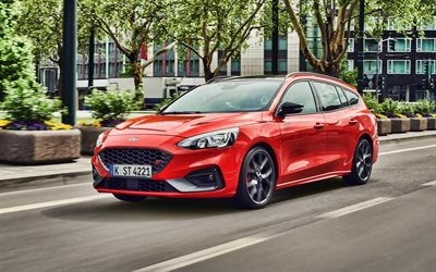 Ford Focus ST Estate, street, 2019 cars, wagons, HDR, 2019 Ford Focus Estate, american cars, Ford