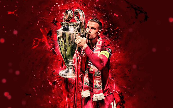 Download Wallpapers 4k Jordan Henderson With Cup Uefa Champions