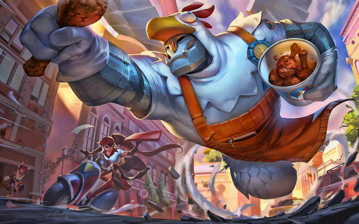 Galio e Sivir, opere d'arte, MOBA League of Legends, guerrieri, League of Legends personaggi, Galio, Sivir