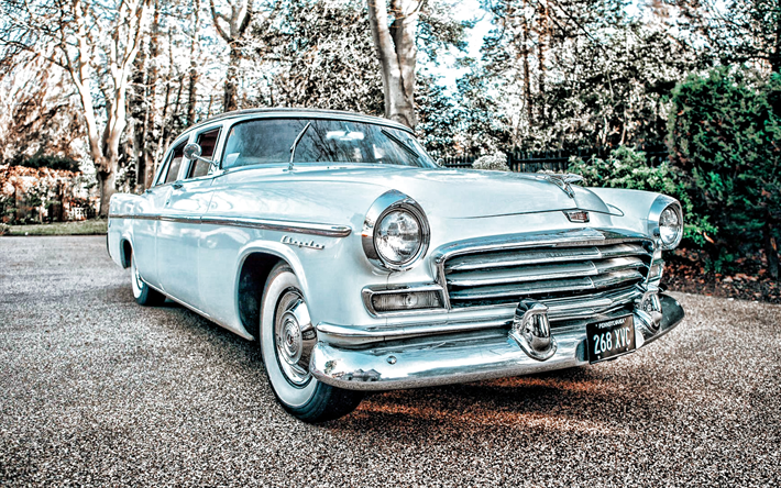 Chrysler Windsor, retro carros, 1956 carros, HDR, os carros americanos, De 1956 A Chrysler Windsor, Chrysler