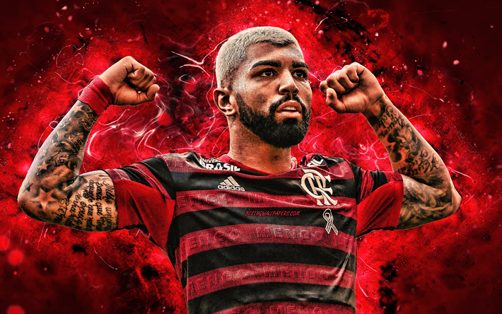 Download Wallpapers Gabigol 4k Flamengo Fc Brazilian Footballers Soccer Gabriel Barbosa Gabriel Brazilian Serie A Football Neon Lights Brazil Gabigol 4k Clube De Regatas Do Flamengo For Desktop Free Pictures For Desktop