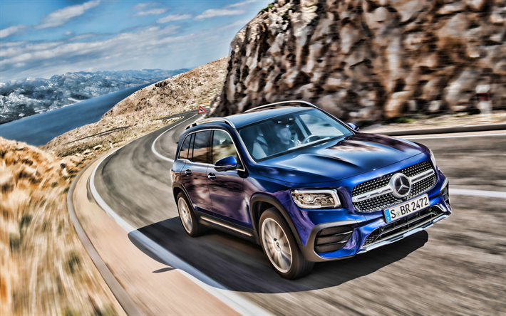 Download Wallpapers 4k Mercedes Benz Glb Class Road 2019