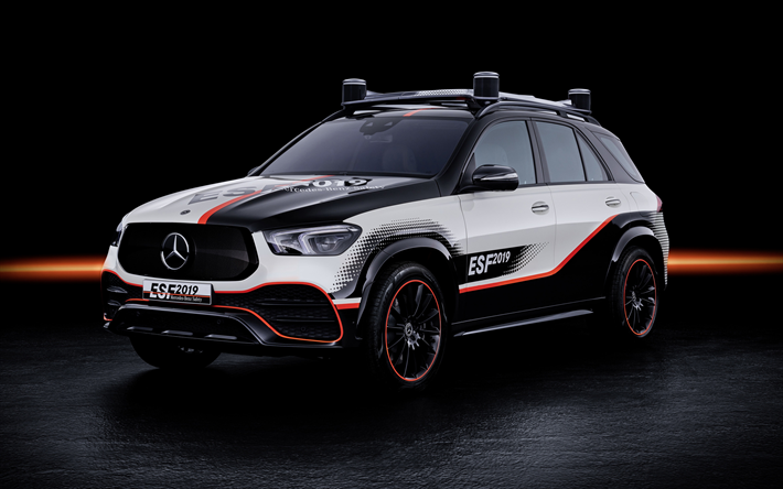 Mercedes-Benz GLE ESF, 2019, exterior, front view, tuning GLE, SUV, German cars, Mercedes