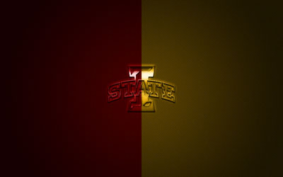 download wallpapers iowa state cyclones logo american football club ncaa red yellow logo red yellow carbon fiber background american football ames iowa usa iowa state cyclones for desktop free pictures for desktop red yellow carbon fiber background