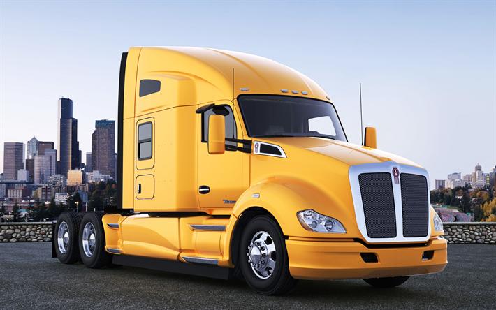 Telecharger Fonds D Ecran Kenworth T 680 Camion Camions Americains Jaune Cabine Pour Le Bureau Libre Photos De Bureau Libre
