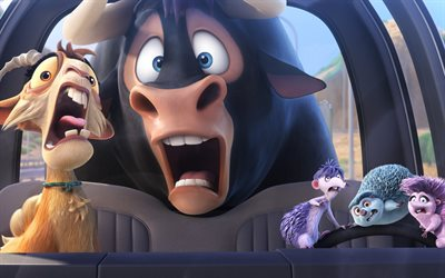 Ferdinand, 3d-animation, Lupe, Una, Dos, Cuarto, 2017 movie, adventure