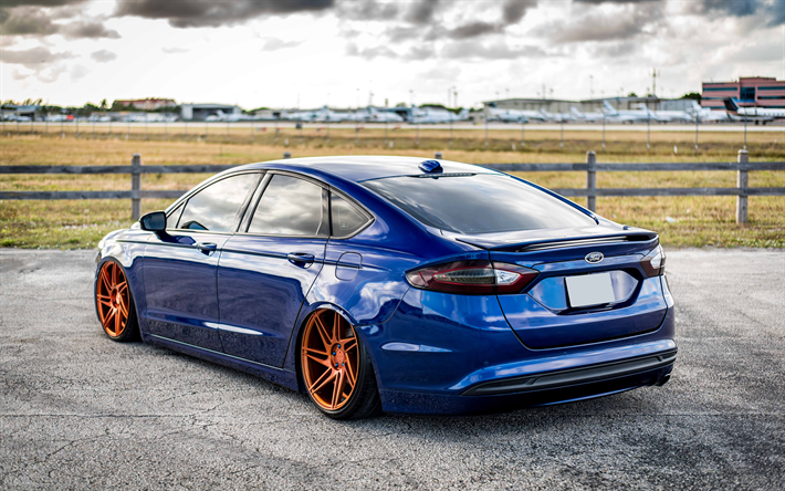 Download Wallpapers Ford Fusion 4k Tuning Supercars