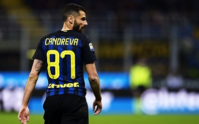 Antonio Candreva, les joueurs de football, Inter Milan, match, Internazionale