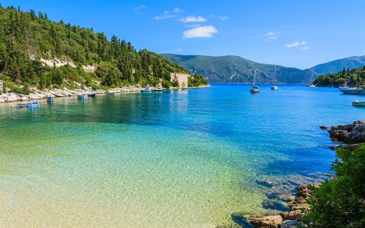 Kefalonia, Island, beach, summer, Ionian Sea, Greece, tourism, Ionian