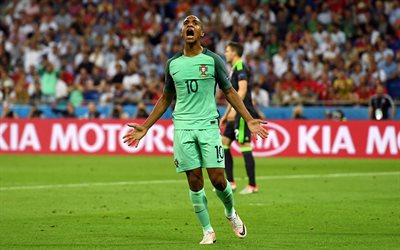 Joao Mario, 4k, footballeur portugais, but, football, match