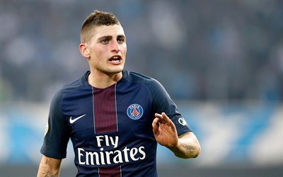 Marco Verratti, 4k, footballers, PSG, soccer, Ligue 1, Lucas Moura, Paris Saint-Germain