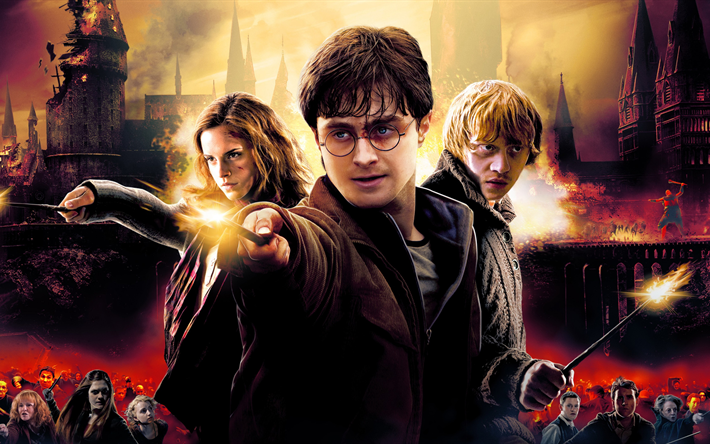 Download Wallpapers 4k, Harry Potter And The Deathly