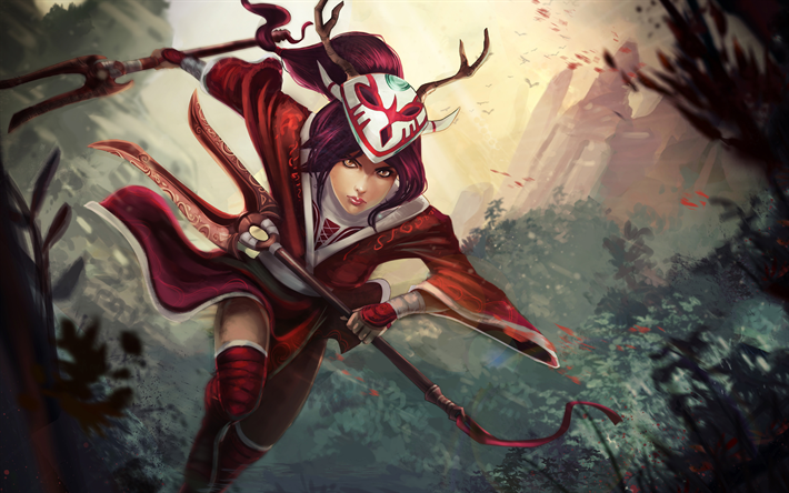 Download Wallpapers Akali 4k Moba Darkness League Of