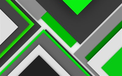 4k, material design, green and gray, geometry, lines, geometric shapes, lollipop, creative, strips, green backgrounds