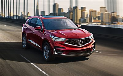 Acura RDX, 2020, exterior, front view, new red RDX, japanese cars, Acura
