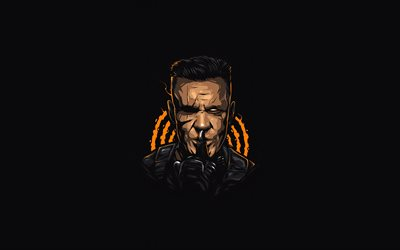 Cable, 4k, minimal, Deadpool 2, superheroes, Nathan Dayspring, Earth-616