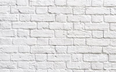 white brick wall texture, white brick background, stone texture, white bricks