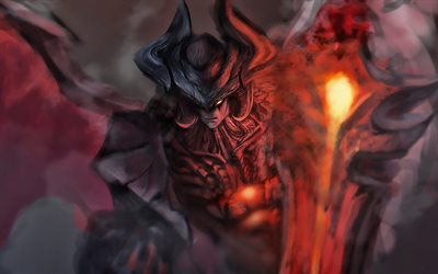 Aatrox, darkness, MOBA, warrior, League of Legends, artwork, Aatrox League of Legends
