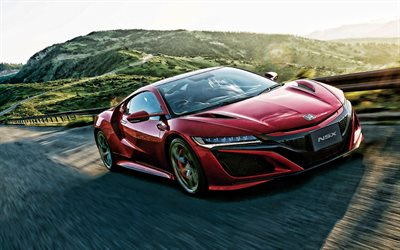 2020, Acura NSX, exterior, red sports coupe, new red NSX, Japanese sports cars, Acura