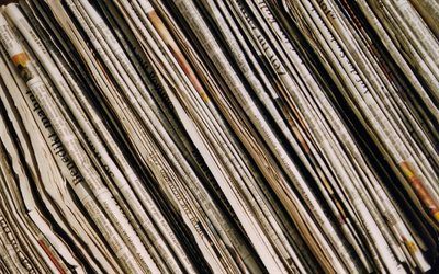 old newspapers, macro, paper backgrounds, close-up, newspapers, diagonal paper texture