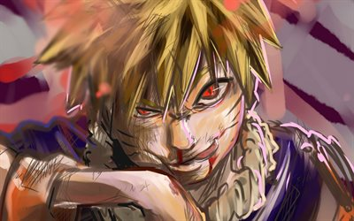 Naruto Uzumaki, abstract art, Naruto characters, portrait, manga, samurai, artwork, Naruto