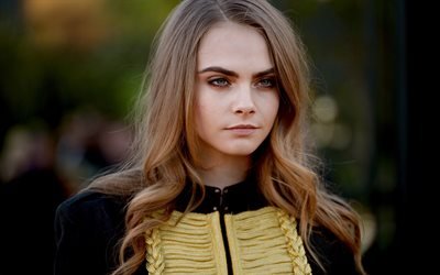 Cara Delevingne, british actress, photoshoot, portrait, black costume, british fashion model