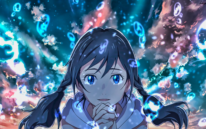 Download Wallpapers Hina Amano Portrait Weathering With You Manga Makoto Shinkai Amano Hina For Desktop Free Pictures For Desktop Free