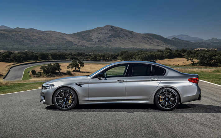 download wallpapers bmw m5 2018 f90 sedan side view. Black Bedroom Furniture Sets. Home Design Ideas